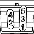 Kieliszek 5ml ze skalą 1-2-3-4-5ml i 1,25-2,5ml