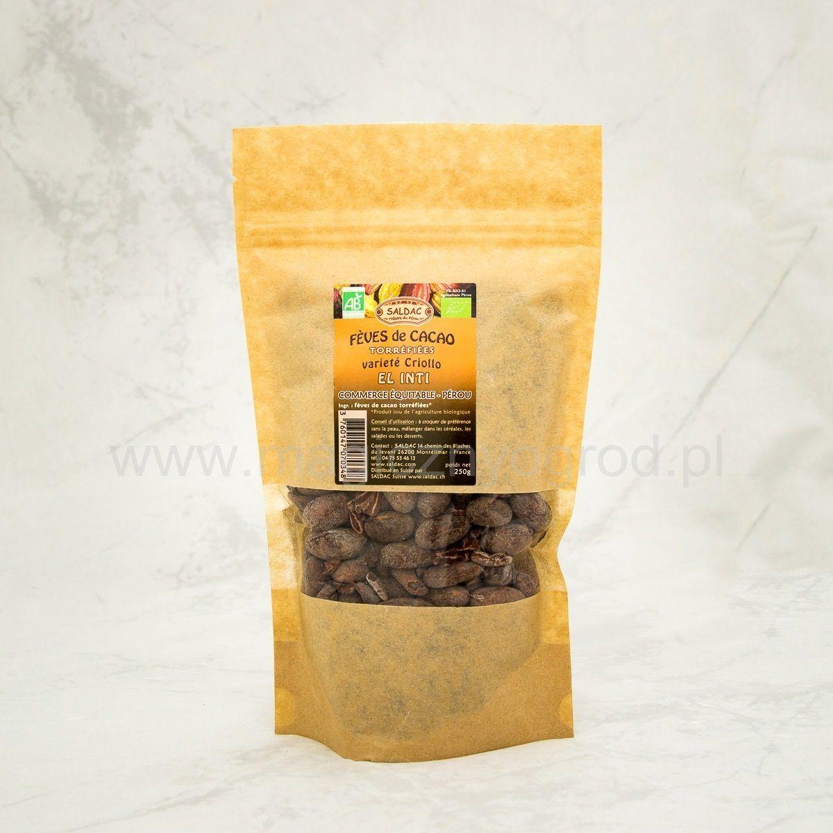 Kakao Criollo ziarno prażone Bio