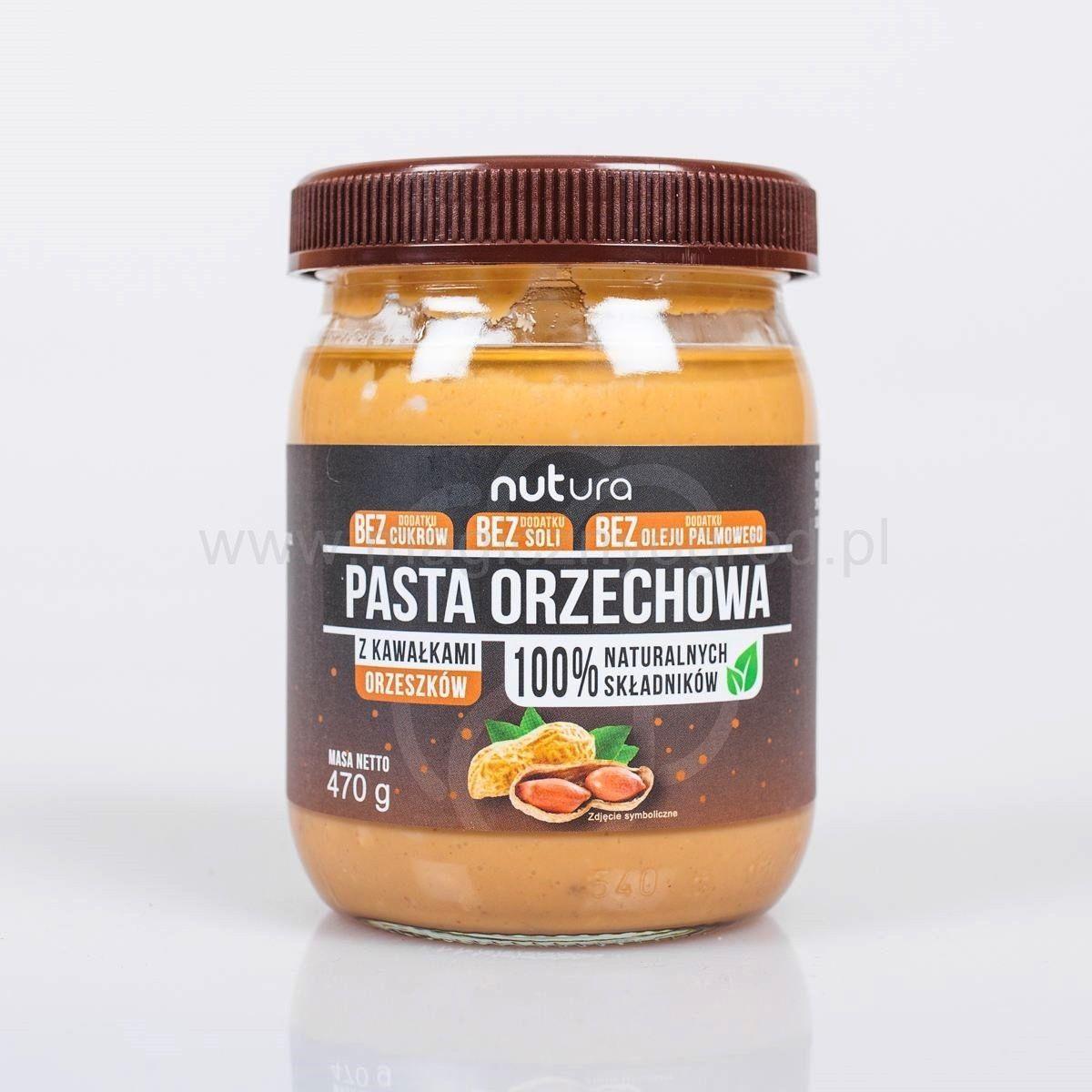 Pasta orzechowa z kawałkami orzechów 470g