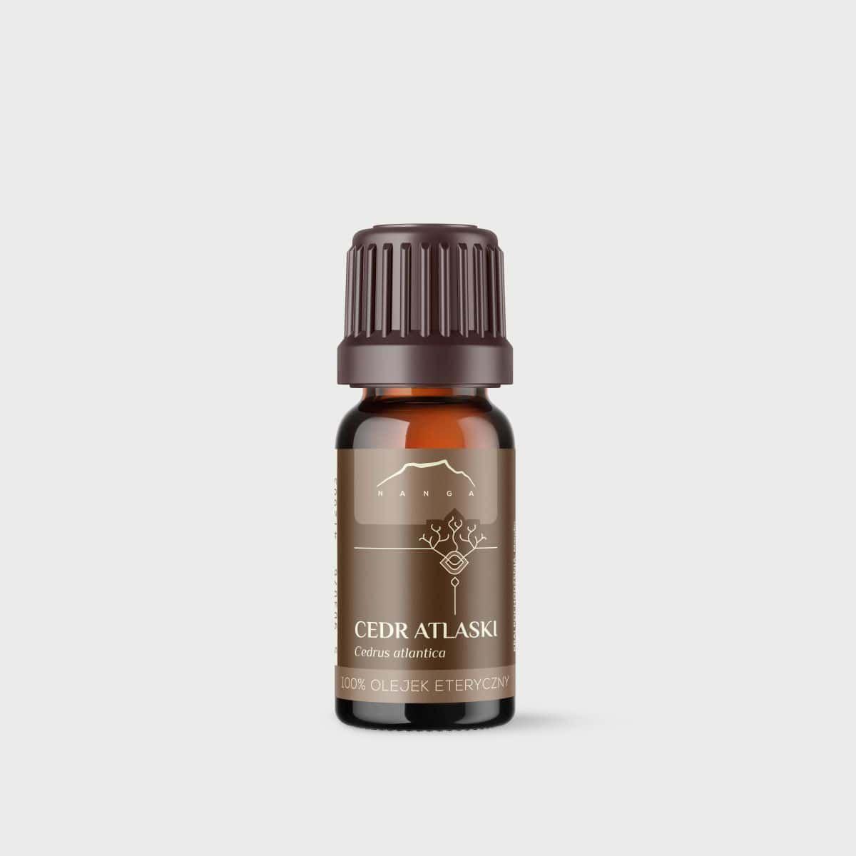Olejek cedrowy (z kory cedru atlaskiego) 100% eteryczny Nanga
