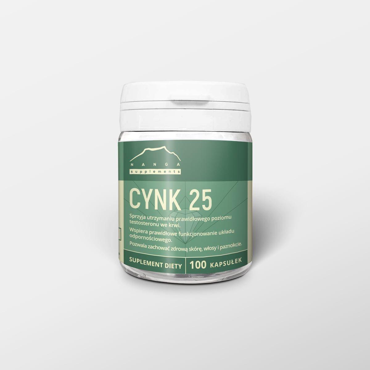 Pikolinian cynku 100 kapsułek x 125 mg