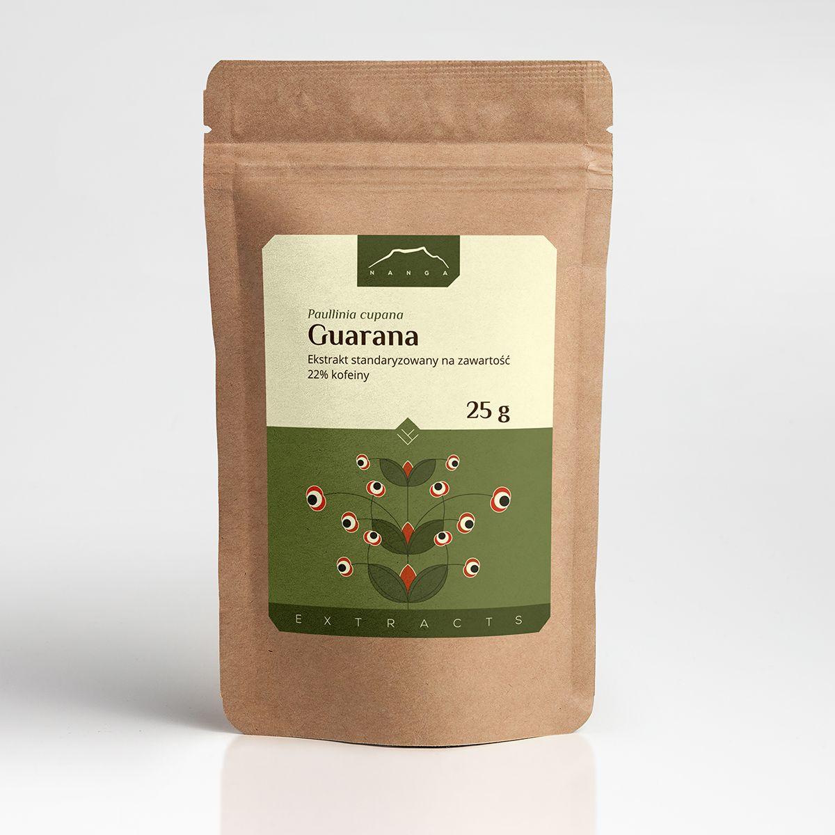 Guarana ekstrakt 22% kofeiny