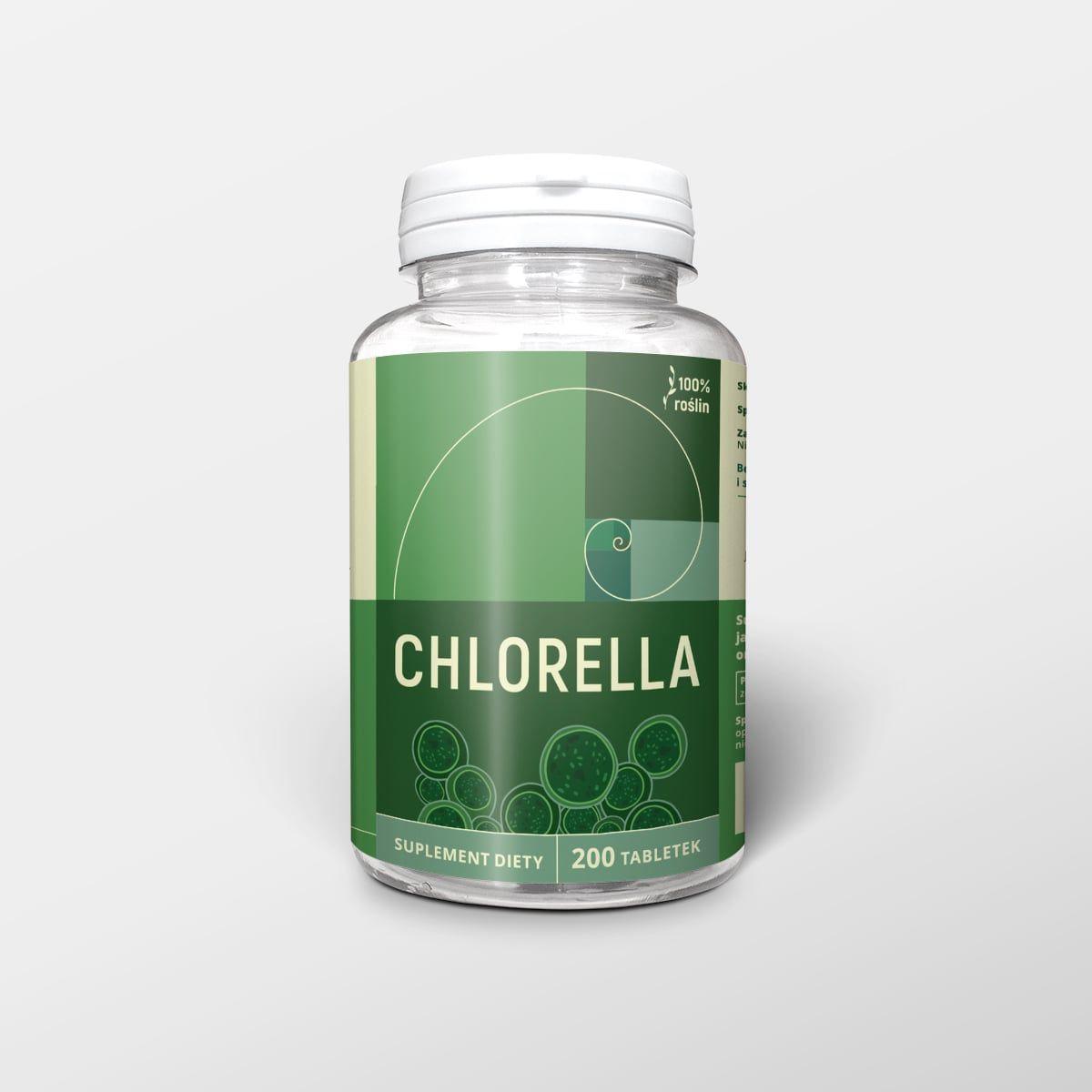 Chlorella tabletki 500 mg (ok. 200 szt)