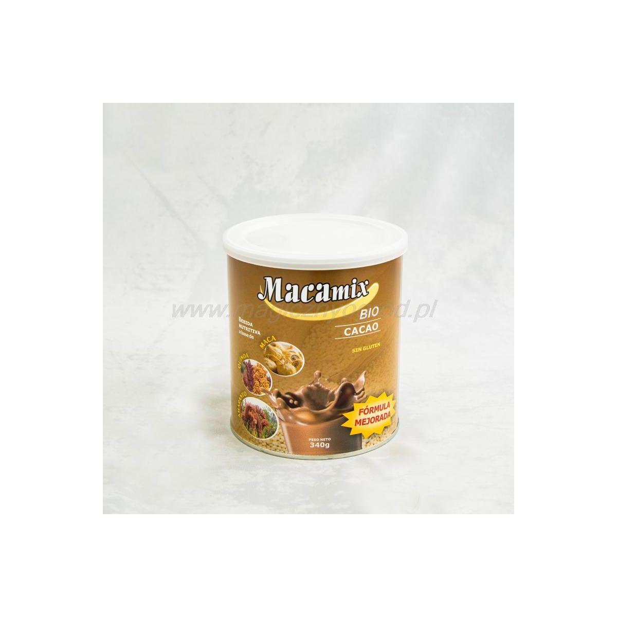 MACAMIX Czekoladowy (maca,quinoa,amarantus,kakao) 340g