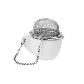 Zaparzacz metalowy kulka + mini filiżanka 4,5 cm