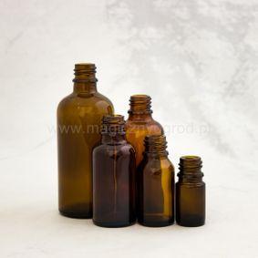 Buteleczka z brązowego szkła 5ml - 100ml gwint 18mm