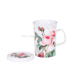 Kubek porcelanowy Pink Rose 320ml