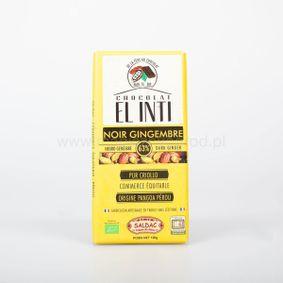 Czekolada ciemna 63% kakao z kandyzowanym imbirem 15% Bio 100g