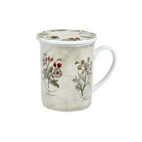 Kubek porcelanowy z zaparzaczem Botanica 250 ml