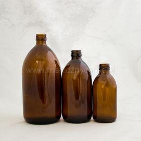 Buteleczka szklana brązowa 250ml - 1000ml gwint 28mm