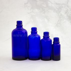 Butelka z niebieskiego szkła 10ml - 100ml  gwint 18mm