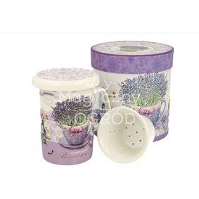 Kubek porcelanowy z zaparzaczem  porcelanowym PASSION 320 ml